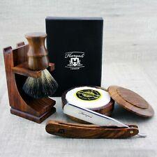 Vintage style Shaving Set Straight Razor / Cut Throat & Pure Black Badger Brush
