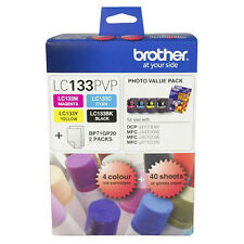 GENUINE Original Brother LC133 Ink Cartridge 4 colours PHOTO VALUE PACK LC133PVP