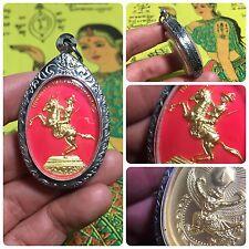 Somdej Taksin Riding Horse Krut Garuda Jackra Amulet Luck Fight Protect