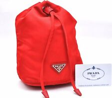 Authentic PRADA Nylon Pouch Red A3151