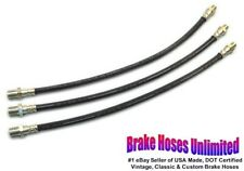 BRAKE HOSE SET Hudson Custom Eight, Series 65, 67, 75, 77, 85 - 1936 1937 1938