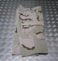 Genuine US Ripstop 6 Pocket Combat / Field Cut Down Trousers Desert Camo Shorts