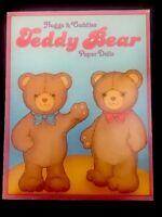 Vintage 1984 HUGGS & CUDDLES TEDDY BEAR Uncut COLORING Book PAPER DOLLS