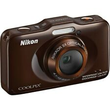 Nikon COOLPIX S31 10.1MP Waterproof P&S Digital Camera Brown NEW IN BOX