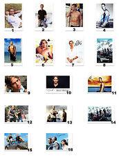 Paul Walker aus Fast & Furious und Cast Autogrammfotokarten zur Auswahl