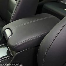 HONDA Accord Black Leather Console Lid Armrest Complete Cover Kit OEM For 08-12