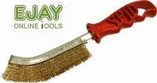 Genuine Spid Steel (Brass Plated) Wire Brush with Plastic Handle