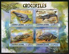 SIERRA LEONE 2017  CROCODILES SHEET MINT NH