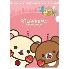 NEW Cute Plastic Holder A4 Size Rilakkuma Relax Bear Korilakkuma Stationary Gift