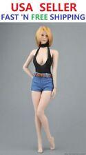 "1/6 Sexy Bodysuit Denim Shorts For 12"" Female Figure PHICEN JIAOU DOLL ACCESSORY"