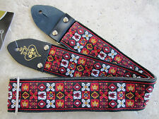 D'Andrea ACE VINTAGE REISSUE Guitar Strap Jimi Hendrix WOODSTOCK RED Woven