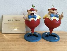 WDCC DISNEY DWEEDLE DEE & DWEEDLE DUM ALICE IN WONDERLAND FIGURE FIGURINES COA