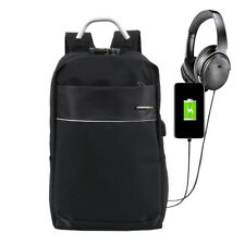 "17"" Travel Laptop Backpack Business Bag Computer Water Resistant Case + USB Port"