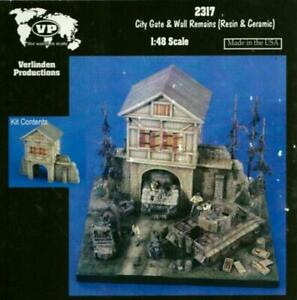Verlinden 1:48 City Gate & Wall Remains Resin Ceramic Diorama Accessory #2317