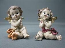 Konvolut von 2 Engel Figuren  Engelgruppe 8 cm Putto