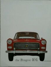 Peugeot 404 Saloon USA Sales Brochure