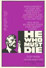 HE WHO MUST DIE Movie POSTER 27x40 Jean Servais Gr goire Aslan Carl M hner Gert