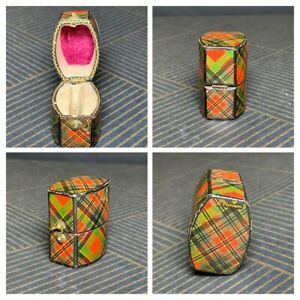 Antique Mauchline Tartanware Ring Box Mcpherson Tartan