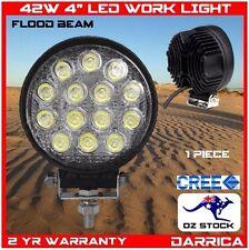 "42W 4"" LED CREE round flood light work 4x4 4wd camp camping marine atv reverse"