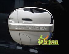 S.Steel fuel door gas cover cap Chrome trim For Mitsubishi Outlander 2007-2012