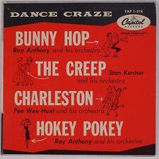 DANCE CRAZE: Bunny Hop, The Hop, The Creep, Hokey Pokey CAPITOL EP 50s 45