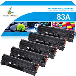 5x CF283A Black Toner Compatible for HP 83A Laserjet M127fn M127fw M201dw M126a