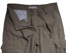 New Womens Brown Linen NEXT Trousers Size 10 Petite Leg 28 LABEL FAULT