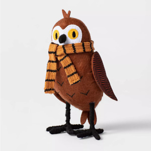 2021 Owl with Scarf Fabric Harvest Bird Hyde & Eek Boutique Figurine Target