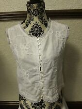 Ladies White Top - Naveed -Size 12 - Used