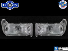 67 Malibu Parking Turn Light Lamp Lens - Clear Pair W/ Gaskets