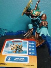 Deep Dive GILL GRUNT Figure + Sticker Water Skylanders Superchargers