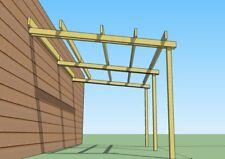 Pergola addossata in legno 5x3 tettoia pensilina pompeiana in pino impregnato