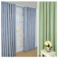 Faux Suede Ring Top Modern Curtains & Pelmets