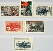 Russia Unión Soviética 1945 953-58 974-79 Red Army success in WWII scenes guerra mnh