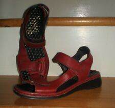WOMENS RIEKER ANTISTRESS ADJUSTABLE RED LEATHER SANDALS EURO SIZE 36 / 5.5 - 6