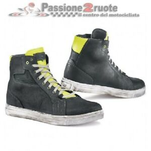 Shoes Motorcycle TCX Street Ace Black Yellow Measure 45 Light Shoes