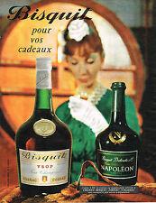 PUBLICITE ADVERTISING  1962   BISQUIT  cognac NAPOLEON