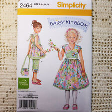 Simplicity 2464 Daisy Kingdom Dress, Capri, Purse 3-8