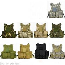 New Gilet Veste Combat Tactique Paintball Airsoft Protection Hunting Militaire