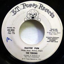 TOKENS 45 Havin fun/You're my girl BT PUPPY mod beat 1964 pop PROMO d213