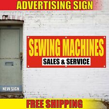 Sewing Machines Banner Advertising Vinyl Sign Flag Sales Service Fix Repair Fast