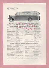 ULM-NÜRNBERG, Typentafel 1934 C. D. Magirus AG Lastkraftwagen Omnibus MAN Z1