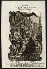 santino incisione 1700 S.CATERINA DI ALESSANDRIA V.M. wagner