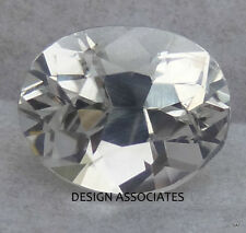 NATURAL WHITE SAPPHIRE 7x5 MM OVAL DIAMOND COLOR PAIR