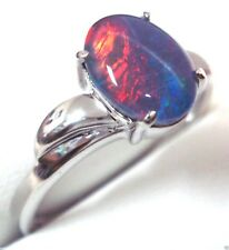 Australian Opal Ring For Sale Natural Black Triplet Opa FREE JEWELLERY BOX!!!