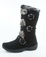NEW Women's Winter Low Flat Heel Zipper Buckle Strap Mid-Calf Boots Size 6 - 10