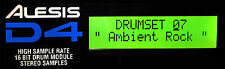 ALESIS D4 DRUM MODULE LCD DISPLAY - NEW D-4 REPLACEMENT SCREEN - GREEN