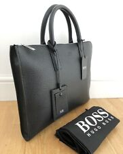 Hugo Boss Laptop Bag - Black- Leather (RRP£700) NEW With Tag.
