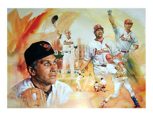 25%-45% OFF! CAL RIPKEN JR - MARK MCGWIRE Limited Edition Lithograph Orioles