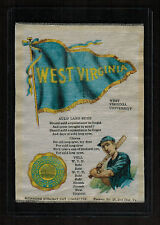 S23 WEST VIRGINIA BASEBALL Small Murad Tobacco Cigarette Silk (4 Borders) RARE